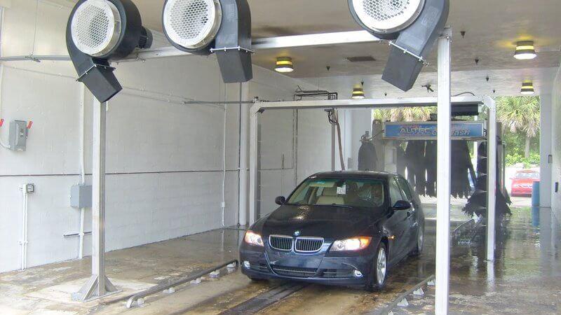 autec car wash systems at auto dealer